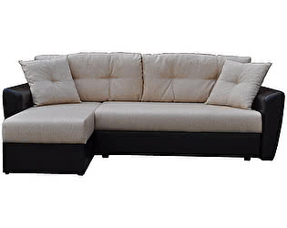 Купить диван FotoDivan угловой Амстердам рогожка серая 160