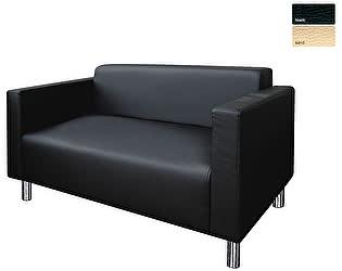 Купить диван FotoDivan БЛЮЗ 2-х местный экокожа (черный)