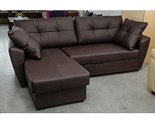 Купить диван FotoDivan угловой Амстердам 160 экокожа коричневая