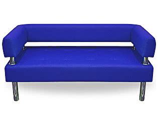 Купить диван FotoDivan Business 1200х800 экокожа (синий) без боковин