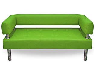 Купить диван FotoDivan Business 1400х800 экокожа (салатовый, глянец) без боковин