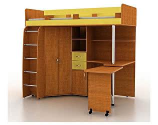 Купить кровать Гармония чердак Карлсон 2 с деревянной лестницей, арт. 14.717