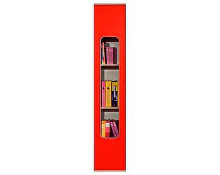 Купить шкаф Глазов Автобус 7 (красный) для книг