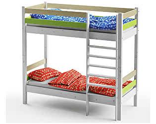 Купить кровать Грифон Стайл 2х ярусная Wood Fantasy 80х180, арт. GSE - 7082