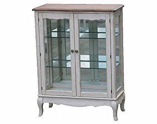Купить шкаф Mobilier de Maison Витрина стеклянная (двойная) Belveder Blanc bonbon, ST9318