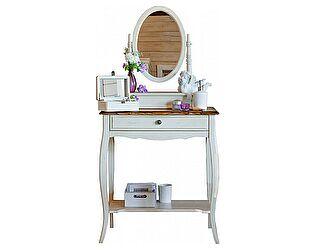 Купить стол Mobilier de Maison макияжный с овальным зеркалом Belveder Blanc bonbon, ST9321