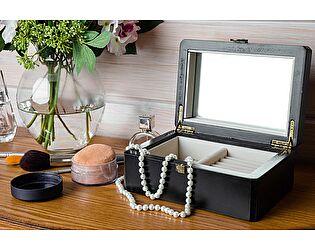 Купить аксессуар Mobilier de Maison Набор макияжный малый Belveder Saphir Noir, ST 9139N