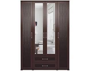 Купить шкаф Ижмебель Аргентина 4х дверный с ящиками и зеркалами, мод.1