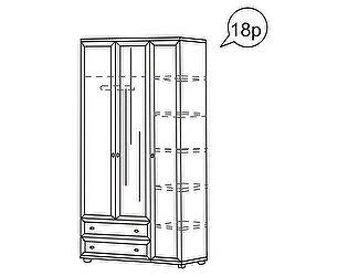 Купить шкаф Ижмебель Ника-Люкс 3-х дверный для одежды АРТ 18р