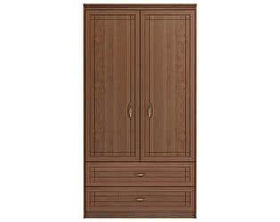 Купить шкаф Ижмебель Лондон 2х дверный для одежды и белья с ящиками без зеркал, мод 17