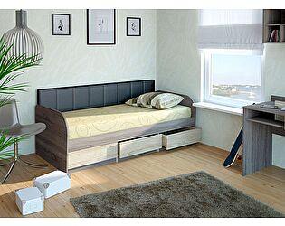 Купить кровать Корвет МДК 4.11, 12  (80) спинка мягкая СМ №7