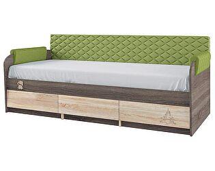 Купить кровать Корвет Каркас 12.1 + спинка СМ 7.1 (эвкалипт ромб)+подлокотники 1.1 МДК 4.14