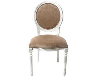 Купить стул La Neige белый мягкий с бежевой обивкой в стиле Прованс
