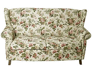 Купить диван La Neige Розы Прованса раскладной серый
