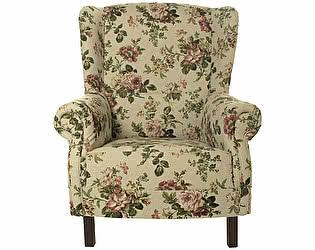 Купить кресло La Neige Розы Прованса серое