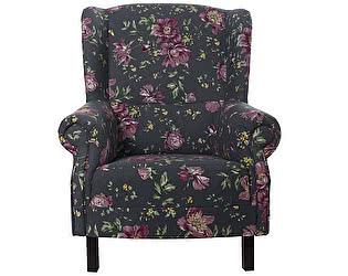 Купить кресло La Neige синее Розы Прованса