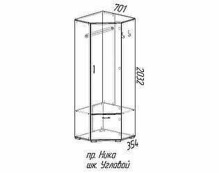 Купить шкаф Эра Ника (ШУ701) угловой