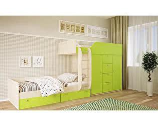 Купить кровать Московский Дом Мебели Вайолет 80, салатовая