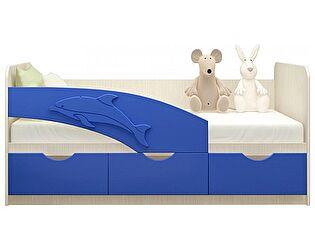 Купить кровать Московский Дом Мебели Дельфин 80/200, синяя