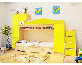 Купить кровать Русская Мебельная Компания -чердак Нео 2 с приставной лестницей