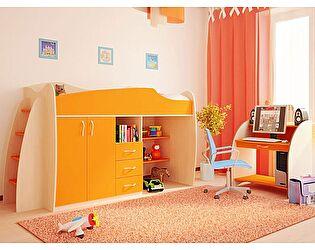 Купить кровать Русская Мебельная Компания Ника 3 с приставной лестницей, без тумбы