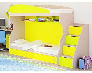 Купить кровать Русская Мебельная Компания Симфония с приставной лестницей, двухъярусная