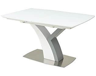 Купить стол M-City CAMELOT 140 WHITE MATT GLASS матовый белый