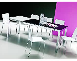 Купить стол M-City EOS (42.34) М310/ M310/ С192 темно-кор, глянц. ст+L072 вставка алюм