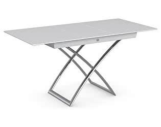 Купить стол M-City MAGIC-J CS/5041-G, P77 chrome/ P64 white/ glass GXW extrawhite