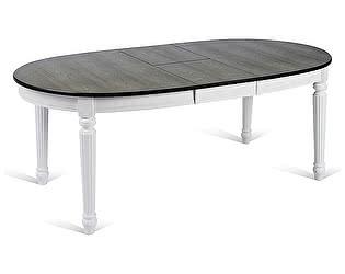 Купить стол M-City TS FIONA, GREY/PURE WHITE (FN-T6EX(AV)) ASH VENEER