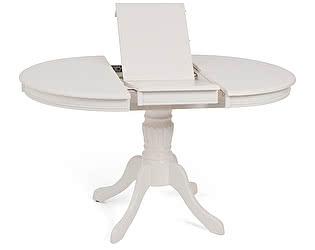 Купить стол M-City TS OLIVIA D106, BUTTER WHITE (OL-T4EX(AV)) ШПОН ЯСЕНЯ