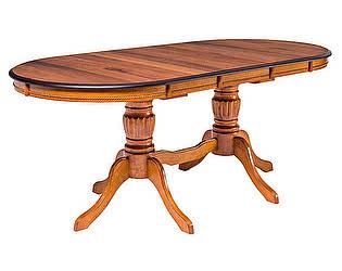 Купить стол M-City TS OLIVIA овальный, NATURAL WALNUT (OL-T6EX(WV)) ШПОН ОРЕХА