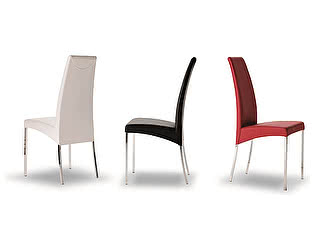 Купить стул M-City AIDA 04.01 (G093 хром/ TR501 беж., экокожа)