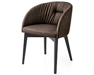 Купить кресло M-City ROSIE SOFT CB/1910, BCH P132 GRAPHITE/ VENICE S0G SOIL BROWN