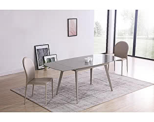 Купить стол M-City ELIOT 120 Frosted Grey1 glass+Grey1