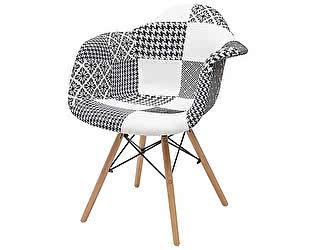 Купить кресло M-City FOLK-1002 PATCHWORK-BW