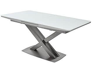 Купить стол M-City CAROLINA 140 WHITE матовое стекло