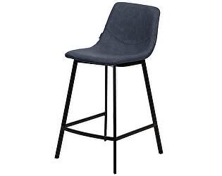 Купить стул M-City Барный стул HAMILTON RU-03 PU синяя сталь М-City