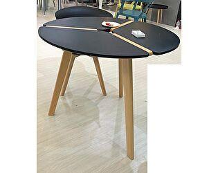 Купить стол M-City PEONY D90 черный / массив бука