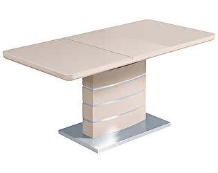 Купить стол M-City ALTA 120 Бежевый (бежевое глянцевое стекло)