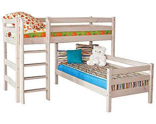 Купить кровать МебельГрад Соня угловая с прямой лестницей, вариант 7
