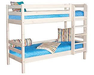 Купить кровать МебельГрад Соня 2х ярусная с прямой лестницей, вариант 9