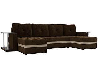 Купить диван Мебелико П-образный Атланта со столом микровельвет