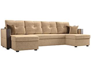 Купить диван Мебелико П-образный Валенсия микровельвет