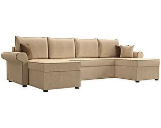 Купить диван Мебелико П-образный Милфорд микровельвет