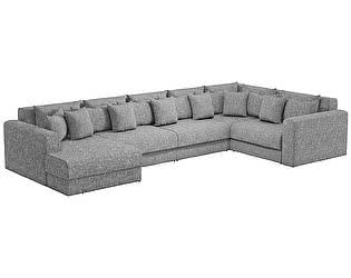 Купить диван Мебелико П-образный Мэдисон рогожка