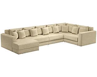 Купить диван Мебелико П-образный Мэдисон микровельвет