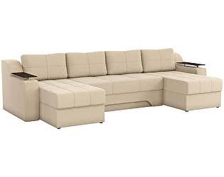 Купить диван Мебелико П-образный Сенатор рогожка