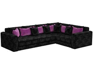 Купить диван Мебелико Мэдисон Long микровельвет черный