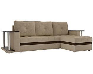 Купить диван Мебелико Угловой диван Атланта М 2 стола микровельвет
